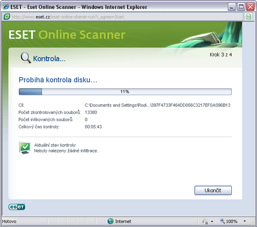 ESET On-line Scanner Antivir