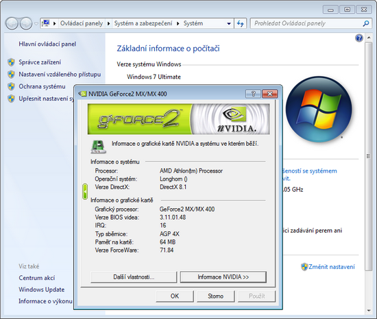 Driver for NVidia GeForce2 MX